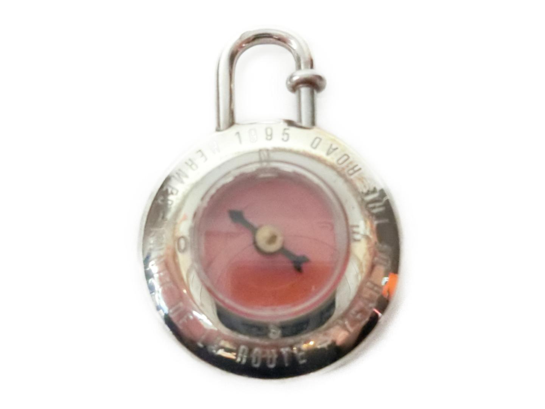 【中古】【送料無料】エルメス カデナ 方位磁石 メタリック シルバー x オレンジ | HERMES カデナ メンズ レディース 美品 ブランド ブランドオフ BRANDOFF