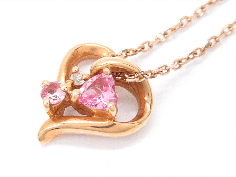 【中古】ヨンドシー ダイヤモンドネックレス レディース K18PG(750) ピンクゴールドxダイヤモンド(石目なし)xシンセティック サファイア   4℃ ネックレス ブランドジュエリー ジュエリー 美品 ブランド ブランドオフ BRANDOFF