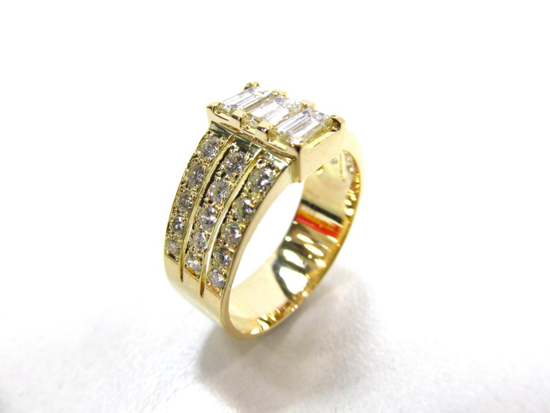 BRANDOFF レディース 美品 リング イエローゴールド×ダイヤモンド(0.75/0.75) K18YG(750) ダイヤモンドリング 【中古】【送料無料】ジュエリー | ブランドオフ 指輪 JEWELRY