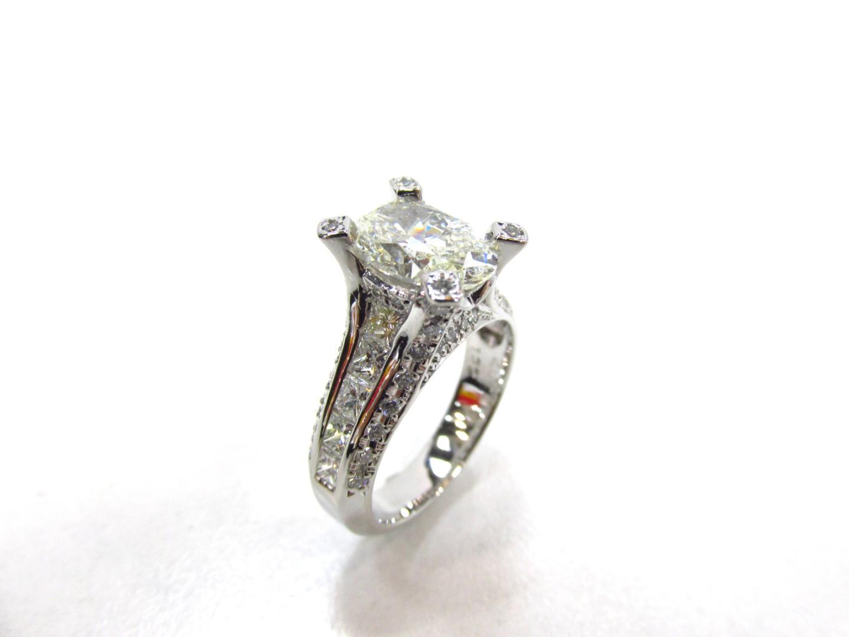 【中古】【送料無料】ジュエリー ダイヤモンドリング 指輪 レディース PT900 プラチナ×ダイヤモンド(2.025/1.22) | JEWELRY リング 美品 ブランドオフ BRANDOFF