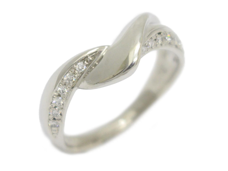 【中古】【送料無料】ジュエリー ダイヤモンド リング 指輪 レディース PT900 プラチナ×ダイヤモンド(0.12ct) | JEWELRY リング 美品 ブランドオフ BRANDOFF