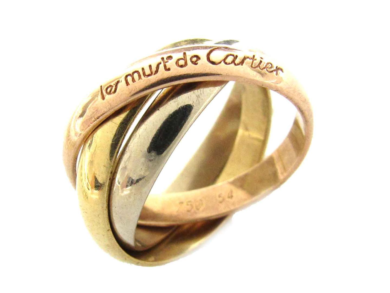 【中古】【送料無料】カルティエ トリニティリング 指輪 レディース K18YG(750) イエローゴールド x K18WG(750)ホワイトゴールド x K18PG(750)ピンクゴールド | Cartier リング ブランドジュエリー ジュエリー 美品 ブランド ブランドオフ BRANDOFF