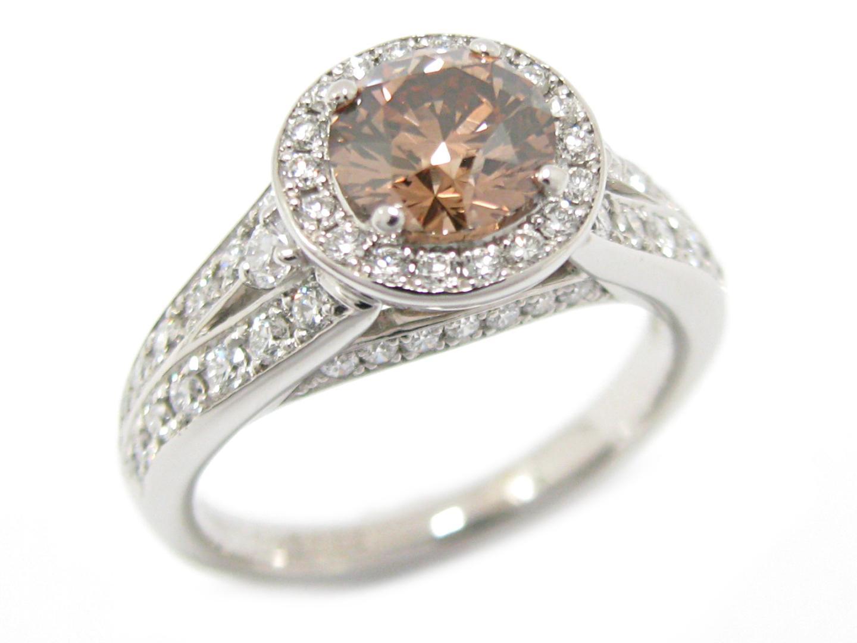 【中古】【送料無料】ジュエリー ブラウン ダイヤモンド リング 指輪 PT900 プラチナ x ダイヤモンド (1.026/0.65ct) | JEWELRY リング メンズ レディース 美品 ブランドオフ BRANDOFF