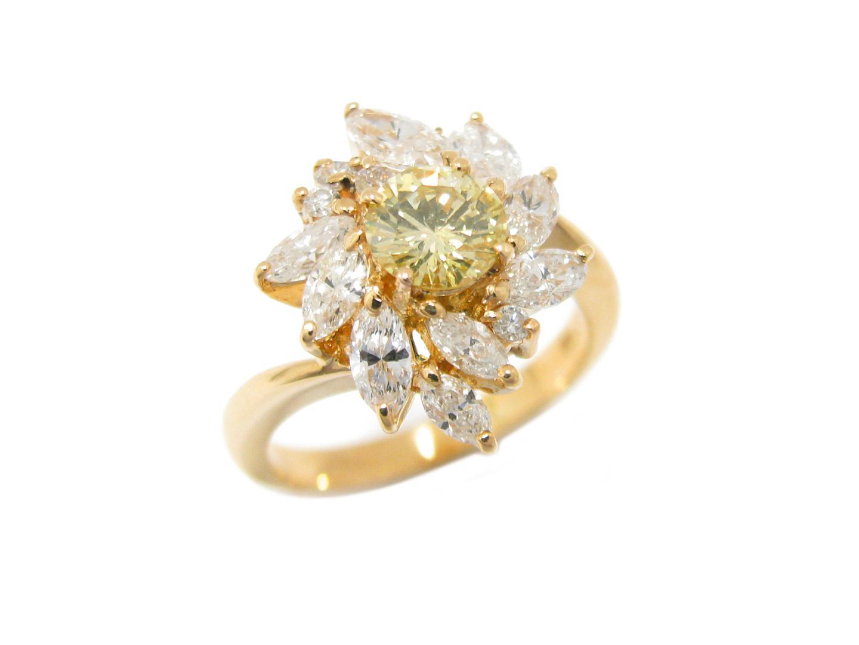 【中古】【送料無料】ジュエリー ダイヤモンド リング 指輪 K18YG(750) イエローゴールド x ダイヤモンド (0.637/1.31ct) | JEWELRY リング メンズ レディース 美品 ブランドオフ BRANDOFF