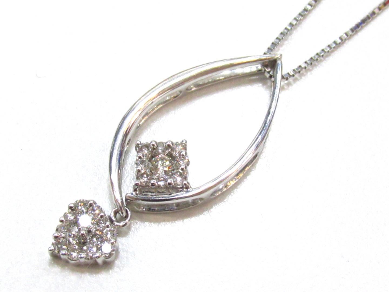 【中古】【送料無料】ジュエリー ダイヤモンド ネックレス レディース K18WG(750) ホワイトゴールド×ダイヤモンド(0.50) | JEWELRY ネックレス 美品 ブランドオフ BRANDOFF