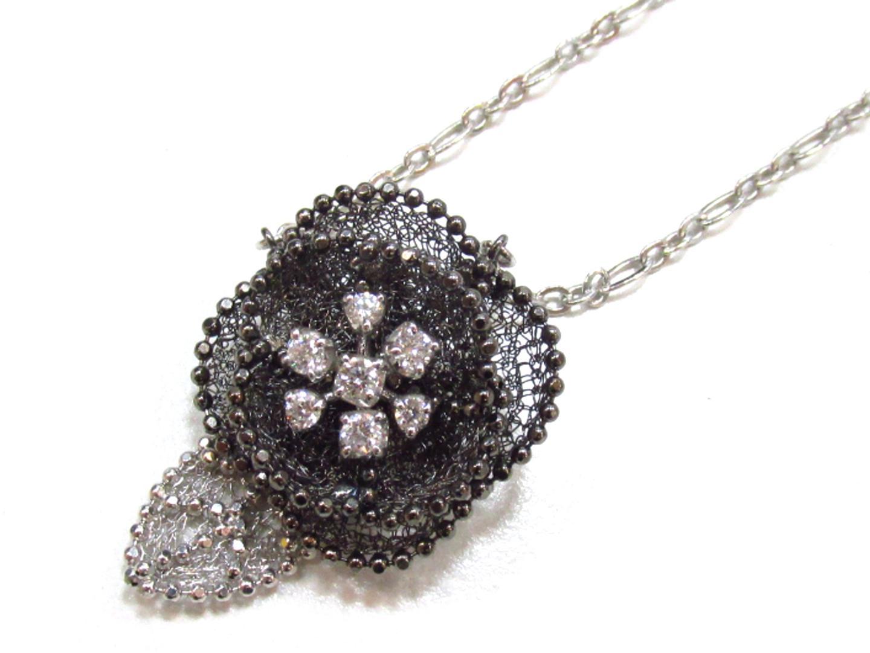 【中古】【送料無料】ジュエリー ダイヤモンド ネックレス レディース K18WG(750) ホワイトゴールド×ダイヤモンド(0.16)   JEWELRY ネックレス 美品 ブランドオフ BRANDOFF
