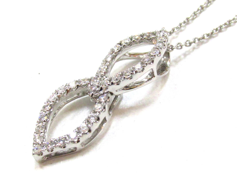 【中古】【送料無料】ジュエリー ダイヤモンド ネックレス レディース K18WG(750) ホワイトゴールド×ダイヤモンド(0.30) | JEWELRY ネックレス 美品 ブランドオフ BRANDOFF