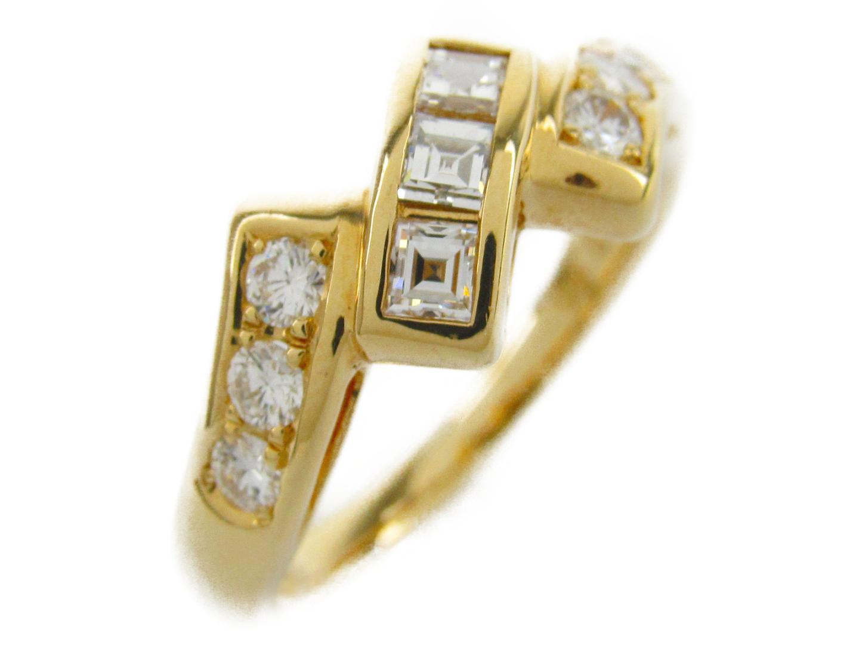 【中古】【送料無料】ポーラ ダイヤモンド リング 指輪 レディース K18YG(750) イエローゴールドxダイヤモンド0.298/0.60ct | JEWELRY リング 美品 ブランドオフ BRANDOFF