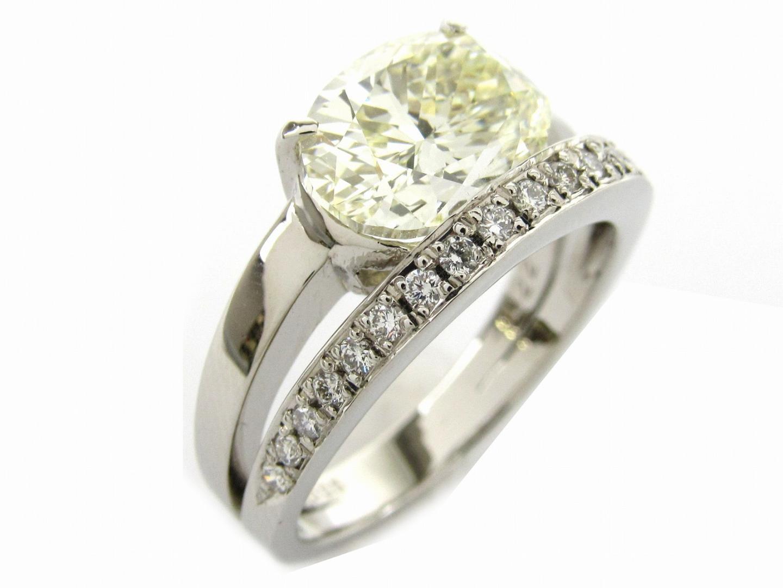 【中古】【送料無料】ジュエリー ダイヤモンド リング 指輪 レディース PT900 プラチナx ダイヤモンド3.025/0.22ct   JEWELRY リング 美品 ブランドオフ BRANDOFF
