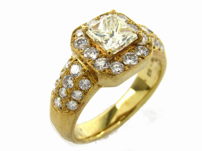 【中古】【送料無料】ジュエリー ダイヤモンド リング 指輪 レディース K18YG(750) イエローゴールドxダイヤモンド0.903/0.88ct | JEWELRY リング 美品 ブランドオフ BRANDOFF