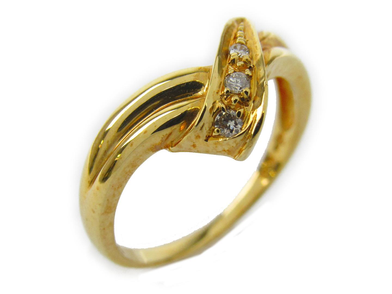 【中古】ジュエリー ダイヤモンド リング 指輪 レディース K18YG(750) イエローゴールドxダイヤモンド0.05ct | JEWELRY リング 美品 ブランドオフ BRANDOFF