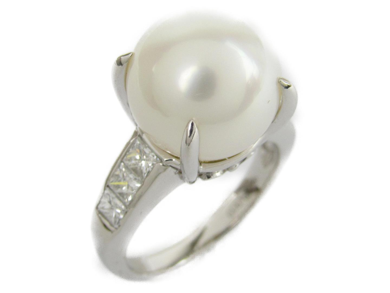 【中古】【送料無料】ジュエリー パール ダイヤモンド リング 指輪 レディース PT900 プラチナxパール12.5mm(石目なし) | JEWELRY リング 美品 ブランドオフ BRANDOFF