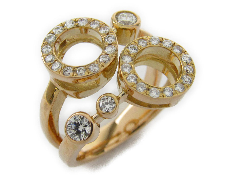 【中古】【送料無料】ジュエリー ダイヤモンド リング 指輪 レディース K18PG(750) ピンクゴールドxダイヤモンド0.56ct | JEWELRY リング 美品 ブランドオフ BRANDOFF