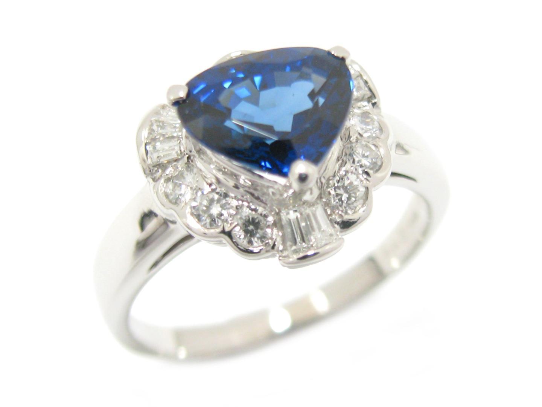 【中古】【送料無料】ジュエリー サファイア ダイヤモンド リング 指輪 PT900 プラチナ x サファイア (2.005ct) x ダイヤモンド (0.40ct) | JEWELRY リング メンズ レディース 美品 ブランドオフ BRANDOFF