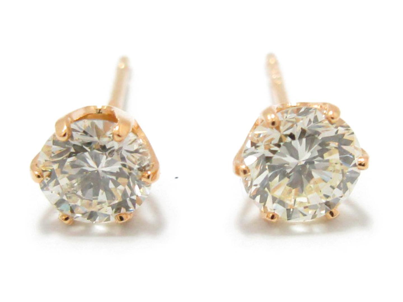 【中古】【送料無料】ジュエリー ダイヤモンド ピアス K18YG(750) イエローゴールド x ダイヤモンド (0.385/0.308ct) | JEWELRY ピアス メンズ レディース 美品 ブランドオフ BRANDOFF