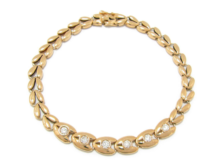 【中古】【送料無料】ジュエリー ダイヤモンド ブレスレット K18YG(750) イエローゴールド x ダイヤモンド (0.66ct) | JEWELRY ブレスレット メンズ レディース 美品 ブランドオフ BRANDOFF