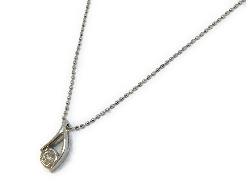 【中古】ジュエリー ダイヤネックレス ジュエリー レディース K18WG(750) ホワイトゴールド×ダイヤ(0.09ct) シルバー | JEWELRY ネックレス 美品 ブランドオフ BRANDOFF