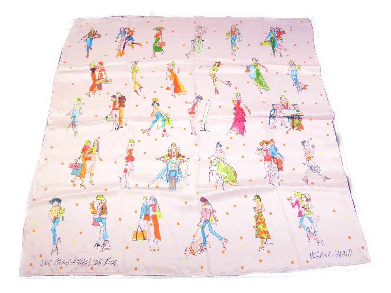 【中古】エルメス スカーフ カレ レディース シルク ピンク   HERMES スカーフ 美品 ブランド ブランドオフ BRANDOFF