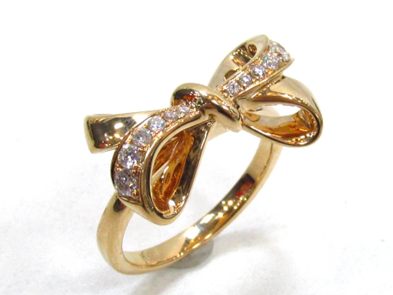 【中古】【送料無料】ジュエリー ダイヤモンドリング 指輪 レディース K18PG(750) ピンクゴールド×ダイヤモンド(0.22) | JEWELRY リング 美品 ブランドオフ BRANDOFF