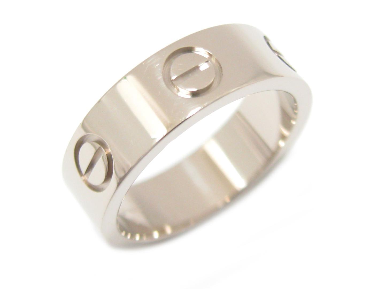 【中古】【送料無料】カルティエ ラブリング 指輪 K18WG(750) ホワイトゴールド | Cartier リング ブランドジュエリー ジュエリー メンズ レディース 美品 ブランド ブランドオフ BRANDOFF