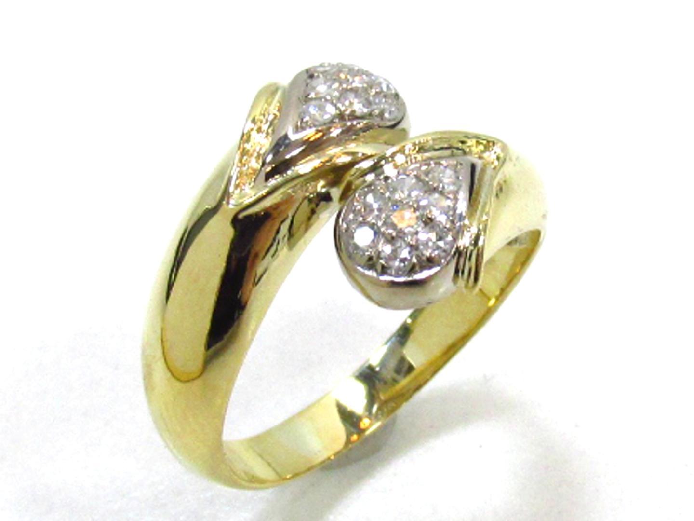 【中古】【送料無料】ジュエリー ダイヤモンドリング 指輪 レディース K18YG(750) イエローゴールド×ダイヤモンド | JEWELRY リング 美品 ブランドオフ BRANDOFF