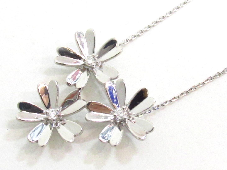 【中古】【送料無料】ジュエリー ダイヤモンド ネックレス レディース K18WG(750) ホワイトゴールド×ダイヤモンド(0.12ct) | JEWELRY ネックレス 美品 ブランドオフ BRANDOFF