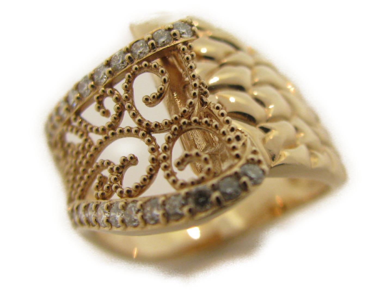 【中古】【送料無料】ジュエリー ダイヤモンドリング レディース K18PG(750) ピンクゴールド×ダイヤモンド0.33ct | JEWELRY リング 美品 ブランドオフ BRANDOFF