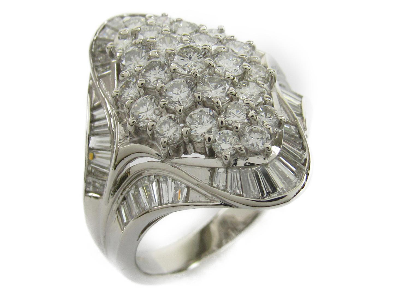 【中古】【送料無料】ジュエリー ダイヤモンド リング 指輪 PT900 プラチナxダイヤモンド2.90ct | JEWELRY リング メンズ レディース 美品 ブランドオフ BRANDOFF