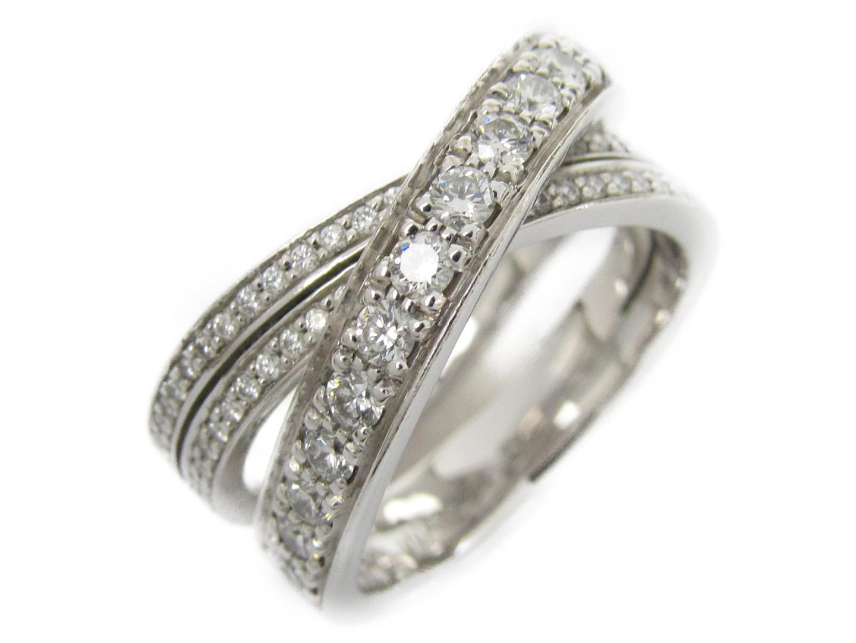 【中古】【送料無料】カルティエ エタンセルドゥカルティエ ダイヤリング 指輪 レディース K18WG(750) ホワイトゴールドxダイヤモンド   Cartier リング ブランドジュエリー ジュエリー 美品 ブランド ブランドオフ BRANDOFF