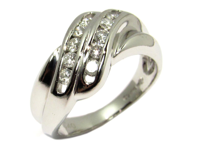 【中古】【送料無料】ジュエリー ダイヤモンド リング 指輪 レディース PT850 プラチナ×ダイヤモンド0.40ct シルバー   JEWELRY リング 美品 ブランドオフ BRANDOFF
