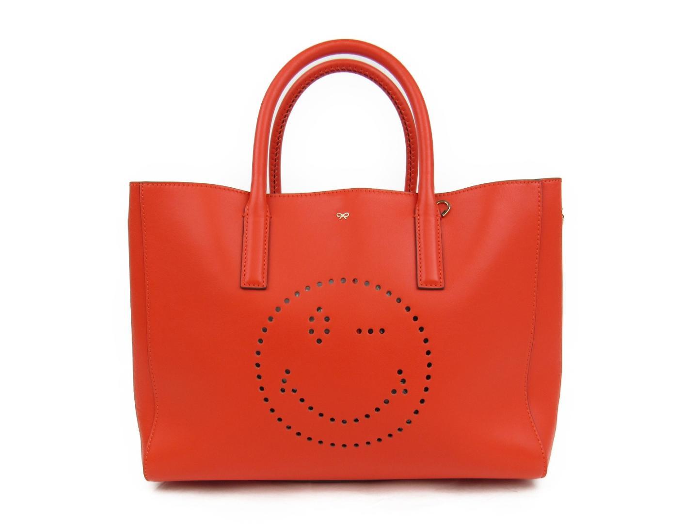 【中古】【送料無料】アニヤ・ハインドマーチ トートバッグ レディース レザー オレンジ | ANYA HINDMARCH トート 肩掛け バッグ バック BAG 鞄 カバン ブランドバッグ 美品 ブランド ブランドオフ BRANDOFF