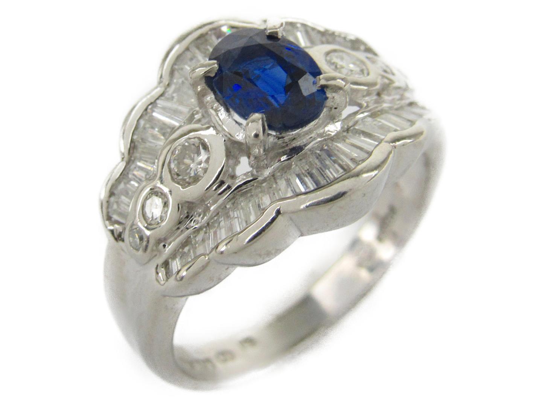 【中古】【送料無料】ジュエリー サファイア ダイヤモンド リング 指輪 レディース PT900 プラチナxサファイア1.00/ダイヤモンド0.85ct | JEWELRY リング 美品 ブランドオフ BRANDOFF