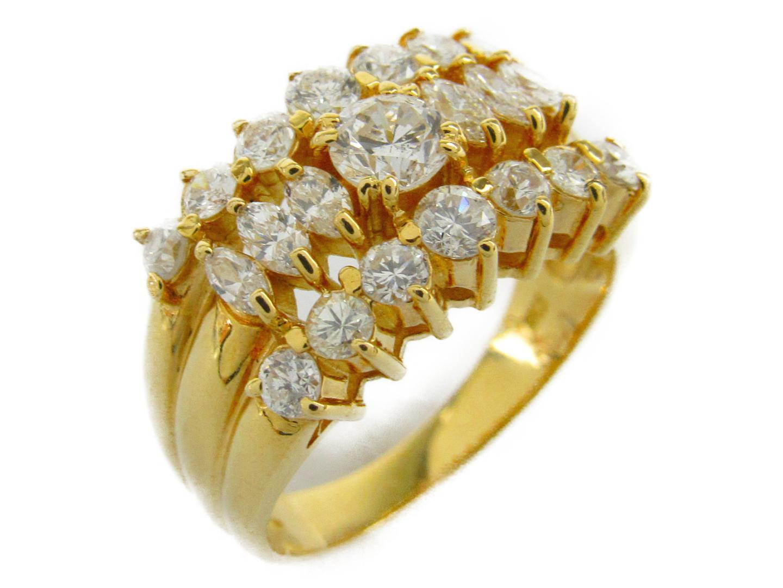 【中古】【送料無料】ジュエリー ダイヤモンド リング 指輪 レディース K18YG(750) イエローゴールドxダイヤモンド1.00/0.28ct | JEWELRY リング 美品 ブランドオフ BRANDOFF