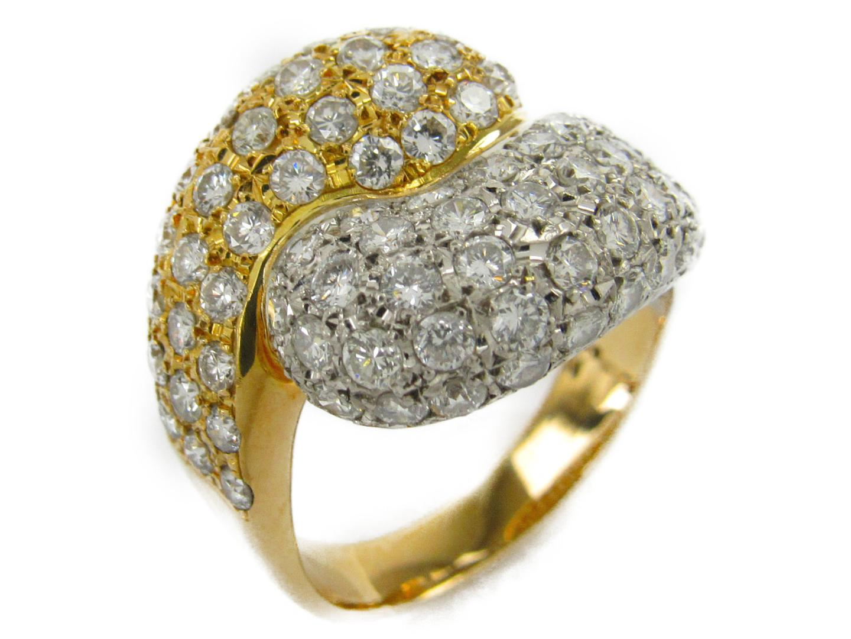 【中古】【送料無料】タサキ ダイヤモンド リング 指輪 レディース K18YG(750) イエローゴールドxpt900(プラチナ)xダイヤモンド2.44ct | TASAKI リング ブランドジュエリー ジュエリー 美品 ブランド ブランドオフ BRANDOFF