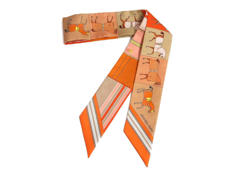 エルメス トゥイリースカーフ 新しいブランケット Couvertures Nouvelles シルク100% ヴェール×オレンジ×ジョーヌ×カプシーヌ | HERMES スカーフ メンズ レディース 新品 ブランド ブランドオフ BRANDOFF