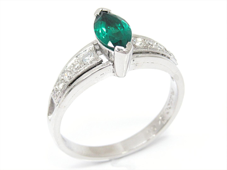 【中古】【送料無料】ジュエリー TOEI CROWN エメラルドリング 指輪 レディース PT850 プラチナxエメラルド(石目なし)xダイヤモンド(石目なし) | JEWELRY リング 美品 ブランドオフ BRANDOFF