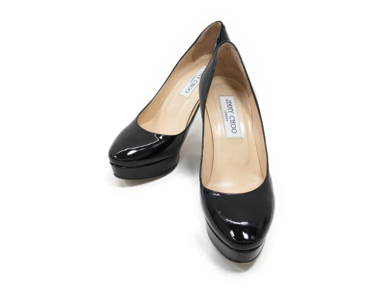 【中古】ジミーチュウ パンプス レディース エナメル ブラック   JIMMY CHOO くつ 靴 ブランド ブランドオフ BRANDOFF