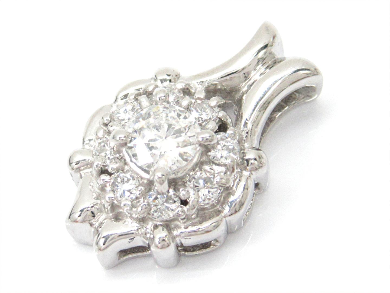 【中古】【送料無料】ジュエリー ダイヤモンドトップ レディース PT900 プラチナxダイヤモンド(0.206/0.223ct) | JEWELRY トップ 美品 ブランドオフ BRANDOFF