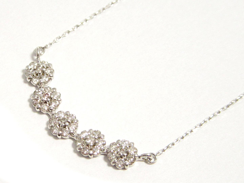 【送料無料】ジュエリー ダイヤモンドネックレス レディース K18WG(750) ホワイトゴールド ダイヤモンド0.31ct | JEWELRY ネックレス 新品 ブランドオフ BRANDOFF