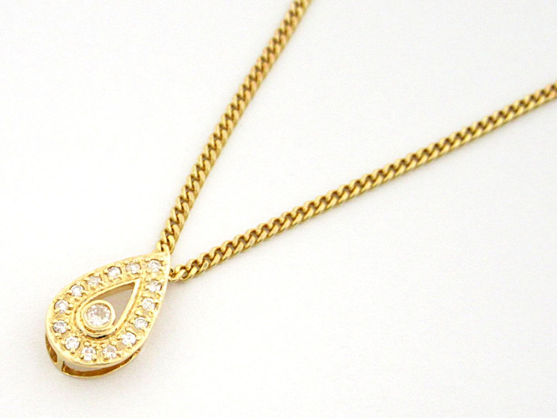 【中古】【送料無料】ジュエリー ダイヤモンドネックレス レディース K18YG(750) イエローゴールド ダイヤモンド0.04ct | JEWELRY ネックレス 美品 ブランドオフ BRANDOFF