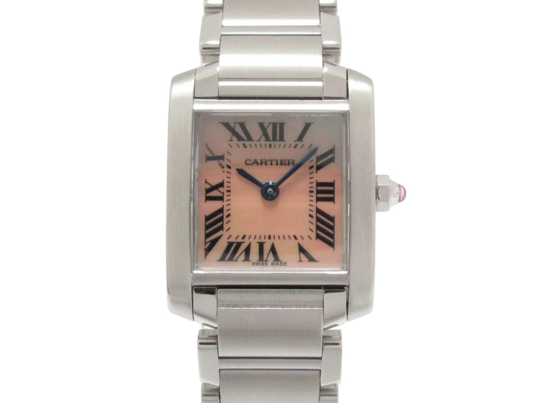 【中古】【送料無料】カルティエ タンクフランセーズSM 腕時計 ウォッチ レディース ステンレススチール(SS) (W51028Q3) | Cartier クオーツ WATCH 時計 美品 ブランド ブランドオフ BRANDOFF