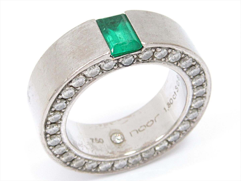 【中古】【送料無料】ジュエリー エメラルドリング 指輪 レディース K18WG(750) ホワイトゴールドxエメラルド(1.80ct)xダイヤモンド(0.87ct) | JEWELRY リング 美品 ブランドオフ BRANDOFF
