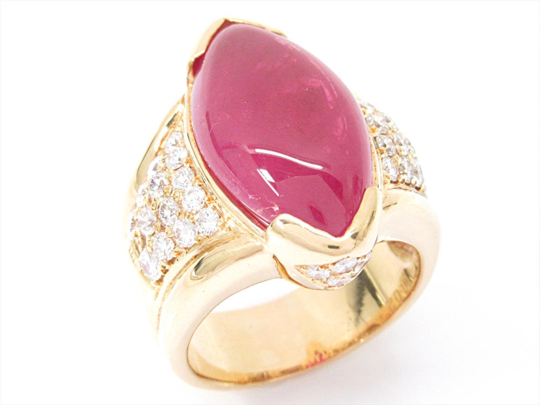 【中古】【送料無料】ジュエリー ルビーリング 指輪 レディース K18YG(750) イエローゴールドxルビー(15.916ct)xダイヤモンド(1.02ct) | JEWELRY リング 美品 ブランドオフ BRANDOFF