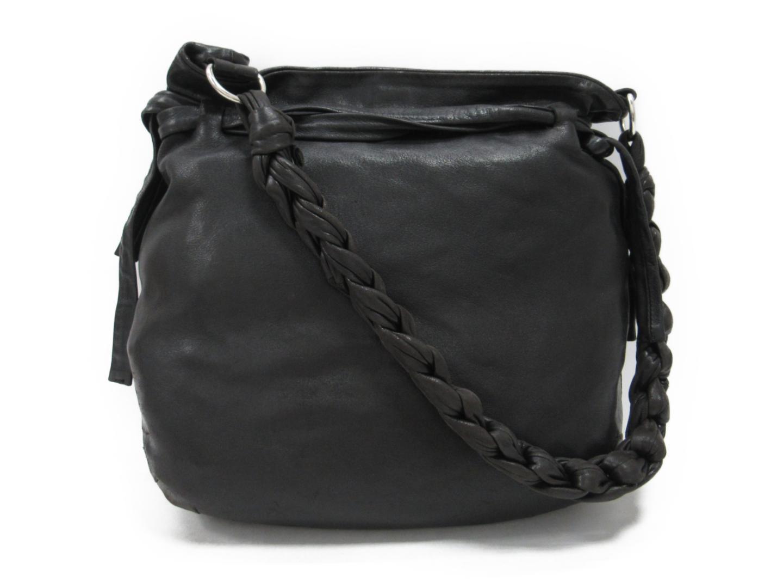 【中古】プラダ ワンショルダーバッグ レディース レザー ブラック | PRADA ショルダー 肩掛け バッグ バック BAG 鞄 カバン ブランドバッグ ブランド ブランドオフ BRANDOFF