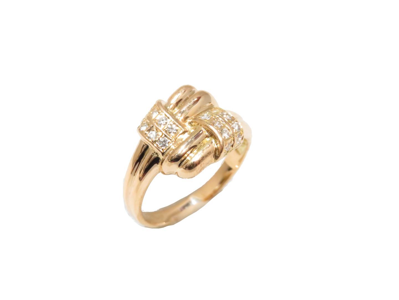 【中古】【送料無料】ジュエリー ダイヤモンドリング 指輪 レディース K18YG(750) イエローゴールド | JEWELRY リング 美品 ブランドオフ BRANDOFF