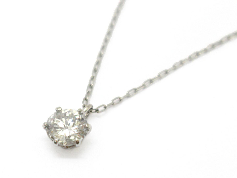 【送料無料】ジュエリー 1P ダイヤモンド ネックレス レディース K18WG(750) ホワイトゴールド×ダイヤモンド(0.31ct) | JEWELRY ネックレス 新品 ブランドオフ BRANDOFF