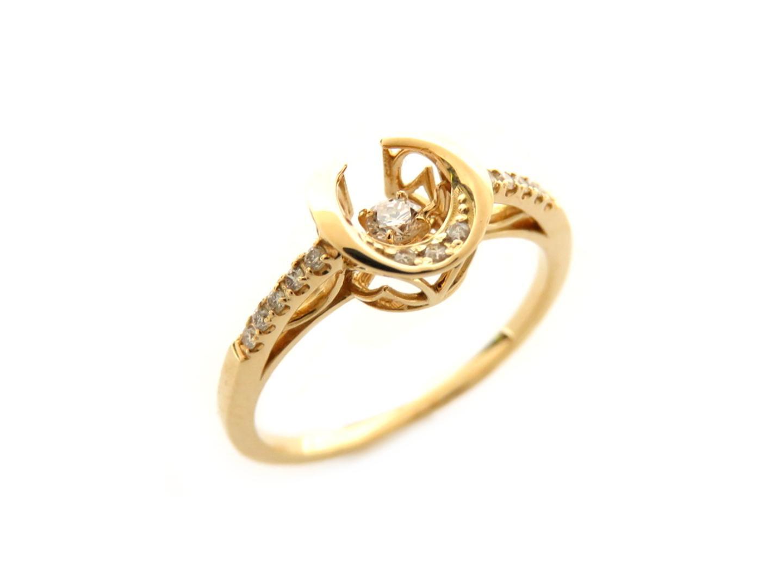 【送料無料】ジュエリー ダイヤモンドスイングリング 指輪 レディース K18YG(750) イエローゴールド/ダイヤモンド0.13ct クリアー   JEWELRY リング 新品 ブランドオフ BRANDOFF