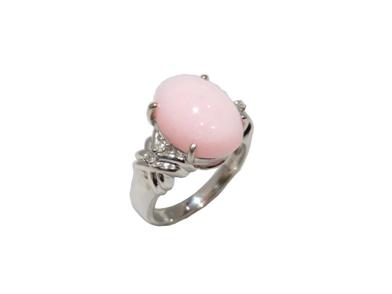 【中古】【送料無料】ジュエリー ピンクオパールリング 指輪 レディース PT900 プラチナ | JEWELRY リング 美品 ブランドオフ BRANDOFF