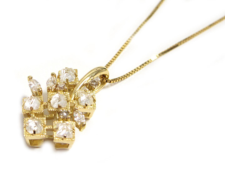 【中古】【送料無料】ジュエリー ダイヤモンドネックレス レディース K18YG(750) イエローゴールド ダイヤモンド0.45ct | JEWELRY ネックレス 美品 ブランドオフ BRANDOFF