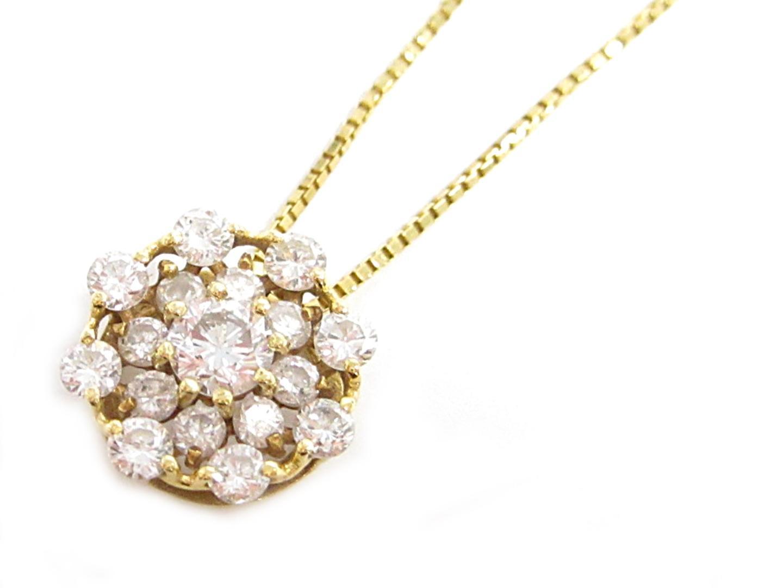 【中古】【送料無料】ジュエリー ダイヤモンドネックレス レディース K18YG(750) イエローゴールド ダイヤモンド0.50ct | JEWELRY ネックレス 美品 ブランドオフ BRANDOFF